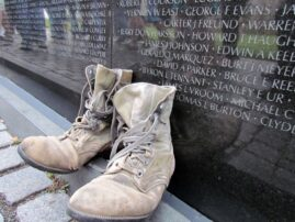 Boots at the Vietnam Veterans Memorial