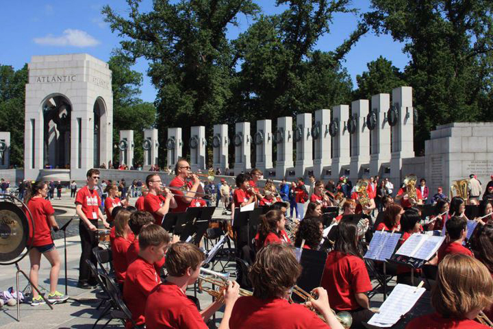 National Memorial Day Concert Series Band World War II Memorial