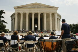 Band Performance at the Thomas Jefferson Memorial