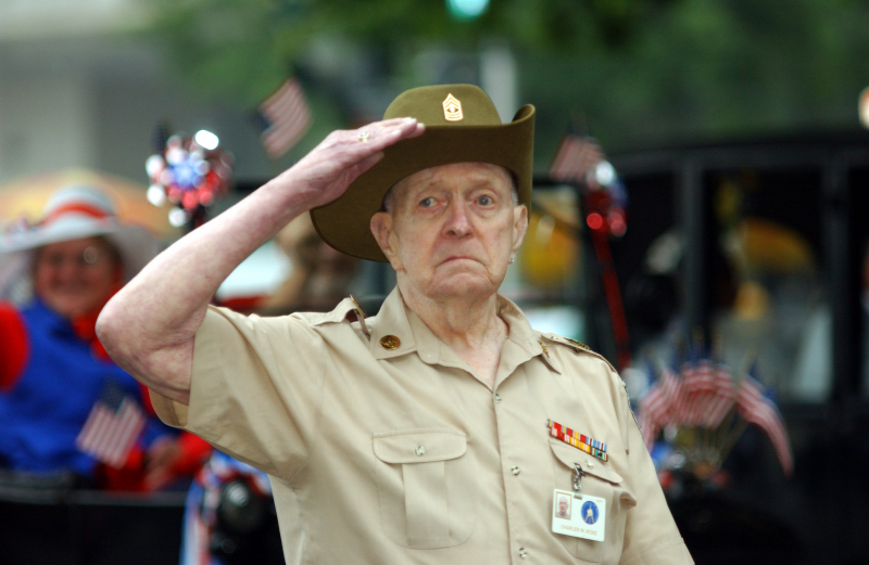 Veteran in the National Memorial Day Parade