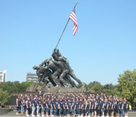 Visiting Choir at the Iwo Jima Marine Corps War Memorial